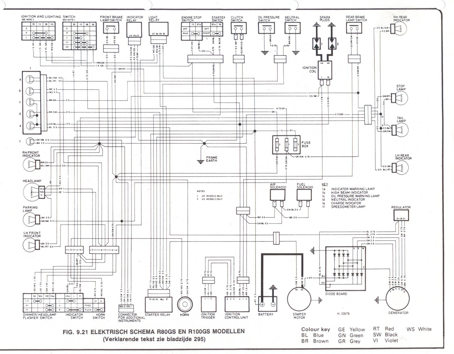 1977 Bmw R100 7 Wiring Diagram Control Yale Glp060 R100rs 21 Images